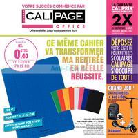 Catalogue calipage du 13 août au 8 septembre 2018