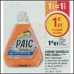 Bon Plan Liquide Vaisselle Paic chez Magasins U (28/08 - 08/09) -anti-crise.fr