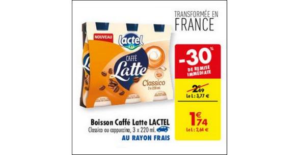 Bon Plan Caffè Latte Lactel chez Carrefour - anti-crise.fr