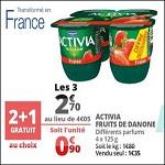 Bon Plan Activia Fruits Danone chez Auchan (14/08 - 21/08) - anti-crise.fr