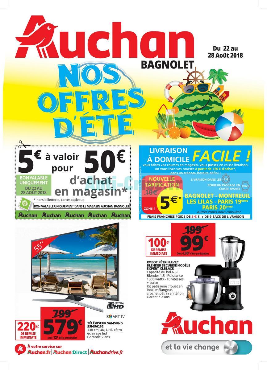 Aout2018 Catalogue Auchan Du 22 Au 28 Aout 2018 Bagnolet 11aout2018 22aout2018