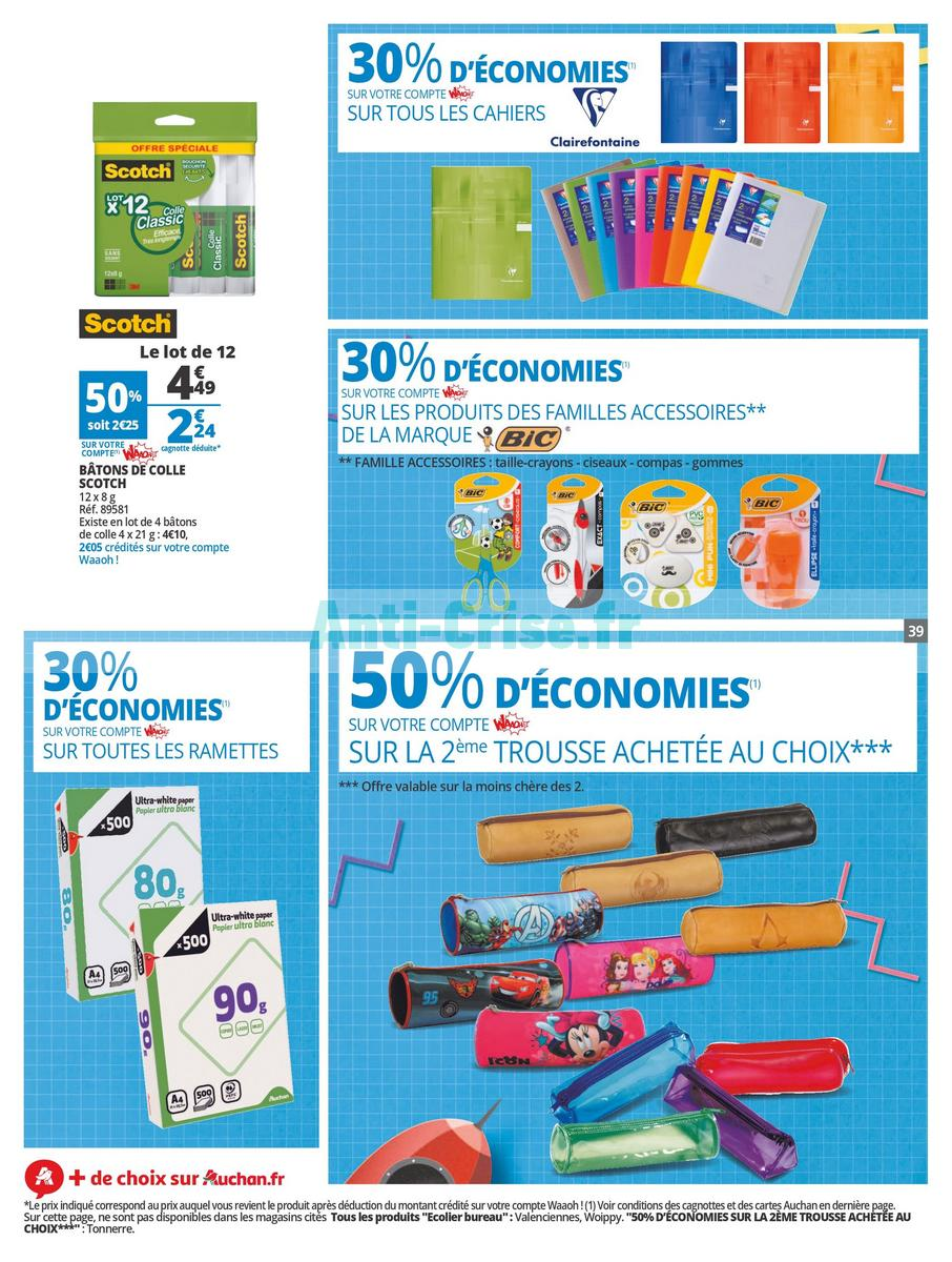 Catalogue Auchan Du 7 Au 13 Aout 2018 Rentree Scolaire