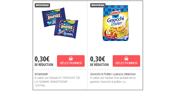 Coupons reduction aout 2019