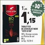 Bon Plan Tablette de Chocolat Bio Côte D'Or chez Leclerc (14/08 - 25/08) - anti-crise.fr