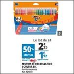 Bon Plan Feutres de Coloriage Bic chez Auchan (14/08 - 21/08) - anti-crise.fr