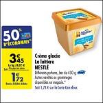 Bon Plan Bac de Glace La Laitière chez Carrefour (21/08 - 27/08) - anti-crise.fr