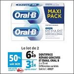 Bon Plan Dentifrice Oral-B Répare Gencives & Email chez Auchan (14/08 - 21/08) - anti-crise.fr
