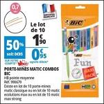 Bon Plan Porte-Mines Bic chez Auchan (22/08 - 28/08) - anti-crise.fr