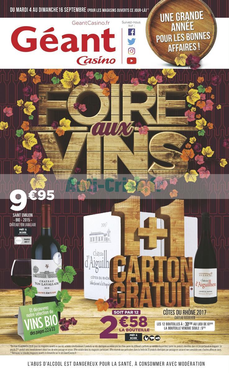 Foire aux vins casino 2018 minnesota gambling age