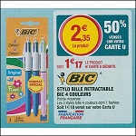 Bon Plan Stylos 4 Couleurs Bic chez Magasins U (24/07 - 11/08) - anti-crise.fr
