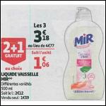 Bon Plan Liquide Vaisselle Mir chez Auchan Supermarché (26/09 - 02/10) -anti-crise.Fr