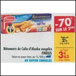Bon Plan Bâtonnets de Colin d'Alaska Findus chez Carrefour (02/10 - 08/10) - anti-crise.fr