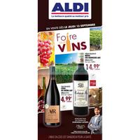 Catalogue Aldi du 13 au 30 septembre 2018 (Foire aux Vins)