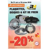 Catalogue Autobacs du 31 août au 10 octobre 2018