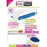Catalogue Calipage du 14 septembre au 19 octobre 2018