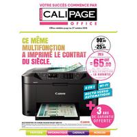 Catalogue Calipage du 30 septembre au 27 octobre 2018
