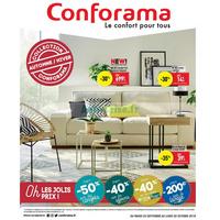 Catalogue Conforama du 25 septembre au 22 octobre 2018