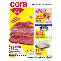 Catalogue Cora du 18 au 24 septembre 2018 (Alsace Frais)