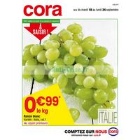 Catalogue Cora du 18 au 24 septembre 2018 (Depts 54 70 88 Frais)