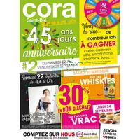 Catalogue Cora du 22 au 28 septembre 2018 (Saint-Dié)