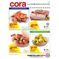Catalogue Cora du 25 septembre au 1er octobre 2018 (Centre-Est Frais)