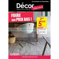 Catalogue Décor Discount du 8 octobre au 3 novembre 2018