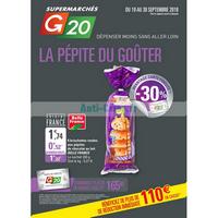 Catalogue G20 du 19 au 30 septembre 2018