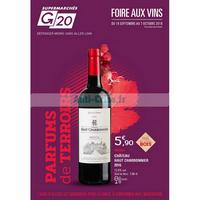 Catalogue G20 du 19 septembre au 7 octobre 2018 (Foire aux Vins)