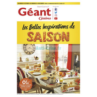 Catalogue Géant Casino du 9 octobre au 4 novembre 2018 (Inspirations)