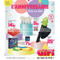 Catalogue Gifi du 25 septembre au 3 octobre 2018