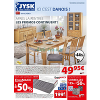 Catalogue Jysk du 12 septembre au 9 octobre 2018