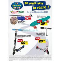 Catalogue La Grande Récré du 14 au 30 septembre 2018