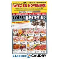 Catalogue Leclerc du 24 septembre au 2 octobre 2018 (Caudry)