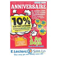 Catalogue Leclerc du 4 au 16 septembre 2018 (Saint-Lys)