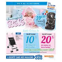 Catalogue Migros du 9 au 15 octobre 2018 (Puériculture)