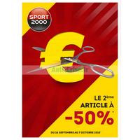 Catalogue Sport 2000 du 26 septembre au 7 octobre 2018