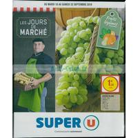Catalogue Super U du 18 au 22 septembre 2018 (Nord)