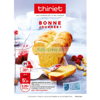 Catalogue Thiriet du 28 septembre au 25 octobre 2018