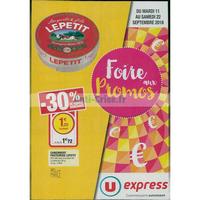 Catalogue U Express du 11 au 22 septembre 2018