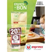 Catalogue U Express du 18 au 29 septembre 2018 (Bio)