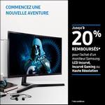 Offre de Remboursement Samsung : 20% Remboursés sur Moniteur LCD Incurvé, Incurvé Gaming ou Haute Résolution - anti-crise.fr