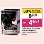 Bon Plan Coloration Pro Color de Schwarzkopf chez Cora - anti-crise.fr
