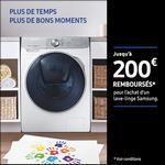 Offre de Remboursement Samsung : Jusqu'à 200€ Remboursés sur Lave-Linge ou Lavante-Séchante - anti-crise.fr