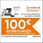 Offre de Remboursement Kenwood : 100€ Remboursés sur Robot kCook Multi Smart - anti-crise.fr