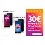 Offre de Remboursement Huawei : Jusqu'à 30€ sur Smartphone Y7 2018 ou P smart - anti-crise.fr