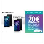 Offre de Remboursement Huawei : Jusqu'à 20€ Remboursés sur Smartphone Y5 2018 ou Y6 2018 - anti-crise.fr
