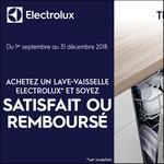 Offre d'Essai Electrolux : Lave-Vaisselle Satisfait ou 100% Remboursé - anti-crise.fr