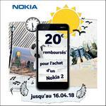 Offre de Remboursement Nokia : 20€ Remboursés Smartphone Nokia 2 - anti-crise.fr