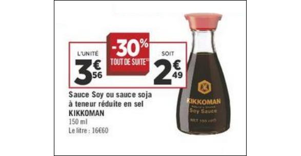 Bon Plan Sauce Kikkoman chez Géant Casino - anti-crise.fr