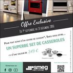 Bon Plan Smeg : Set de Casseroles Offert - anti-crise.fr